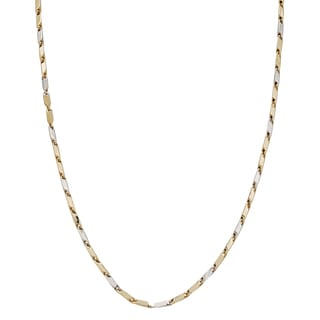 Decadence 14k Two-tone Gold High-polish Obelisk Tube 26-inch Necklace
