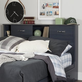 South Shore Furniture Ulysses Blue Finish Laminate Full Bookcase Headboard