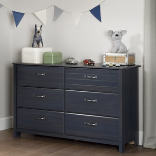 South Shore Ulysses Blueberry 6-drawer Double Dresser
