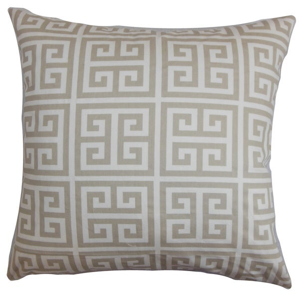 d215cc29c4d Shop Paros Greek Key Throw Pillow Cover - On Sale - Free Shipping On Orders  Over  45 - Overstock.com - 12019220