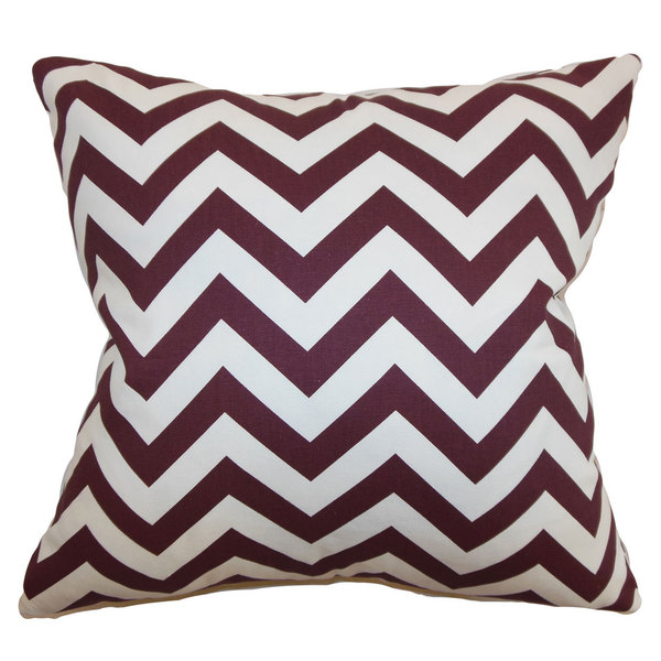 Xayabury Zigzag Throw Pillow Cover Maroon