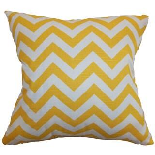 Xayabury Zigzag Throw Pillow Cover   Slub
