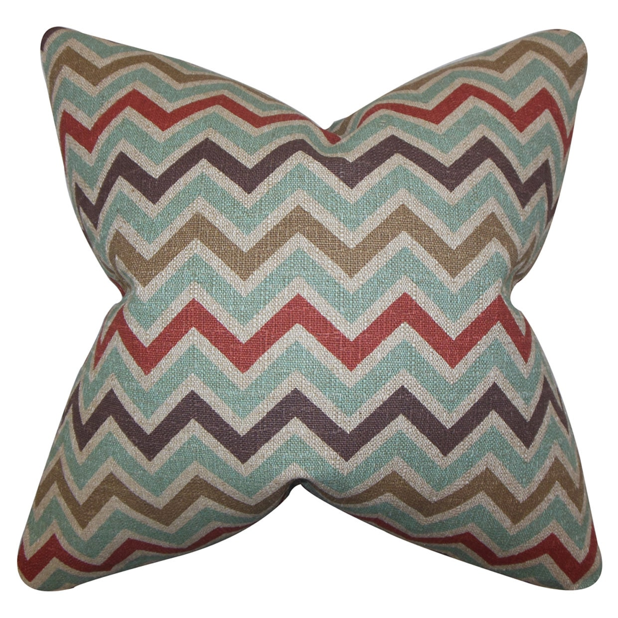 Howel Zigzag Throw Pillow Cover (18 x 18), Multi (Fabric)