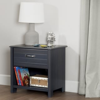 South Shore Ulysses Blueberry 1-drawer Nightstand