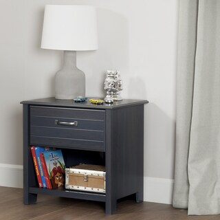South Shore Furniture Ulysses Blueberry Wood/Laminate 1-drawer Nightstand