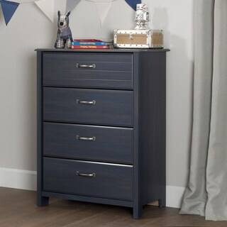 South Shore Furniture Ulysses Blueberry Finish Laminate/Metal 4-drawer Chest