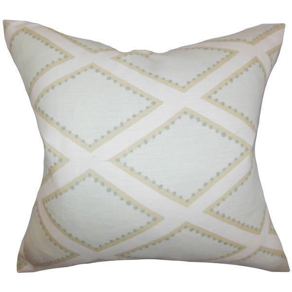 Alaric Geometric Throw Pillow Cover Opal