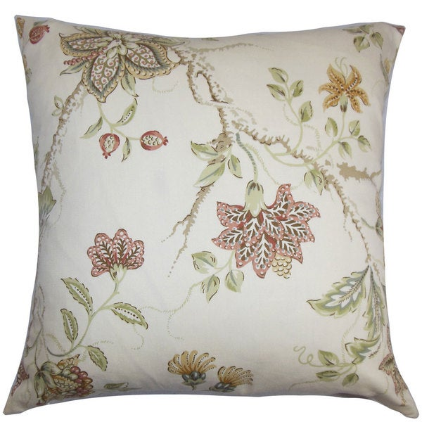 Ululani Floral Throw Pillow Cover