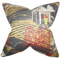 Praxis Geometric Throw Pillow Cover  Lacquer