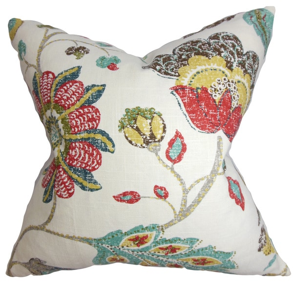 Jora Floral Throw Pillow Cover