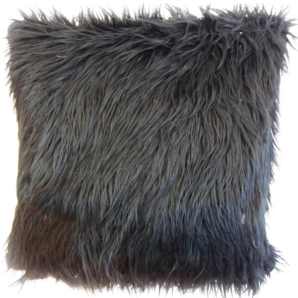 Valeska Faux Fur Throw Pillow Cover