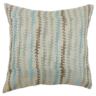 Malu Zigzag Throw Pillow Cover Placid