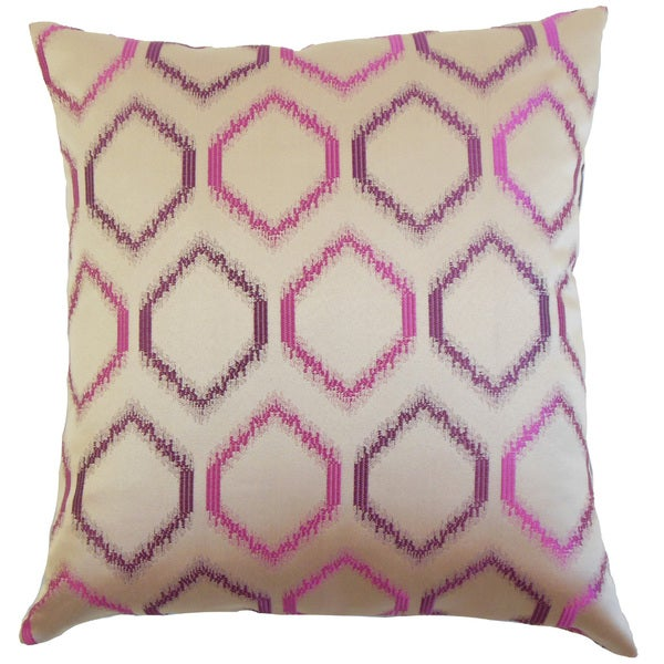 Ofira Geometric Throw Pillow Cover Orchid