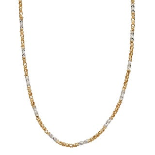 Decadence 14k Two-tone Gold 26-inch Twist Tube Necklace