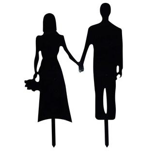 Couple Silhouette Acrylic Wedding Cake Topper