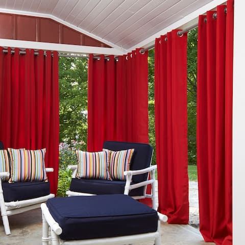 Havenside Home Currituck 52-inch x 84-inch Outdoor Curtain Panel - 52 w x 84 l in.