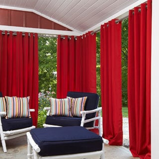Greendale Polyester 52-inch x 84-inch Outdoor Drape