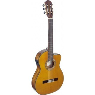 Angel Lopez SIL-TCE HG Silvera Series Thin Body Cutaway Acoustic-Electric Classical Guitar (Option: Natural)
