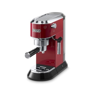 De'Longhi Dedica 15-Bar Pump Espresso Machine (Red/ Silver)