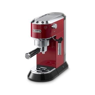 De'Longhi Dedica 15-Bar Pump Espresso Machine (Red/ Silver)