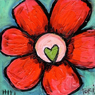 Marmont Hill 'Watermelon Flower' Painting Print on Wrapped Canvas