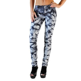 Standards & Practices Women's Nebula Graphite Tie-dye Skinny Jeans
