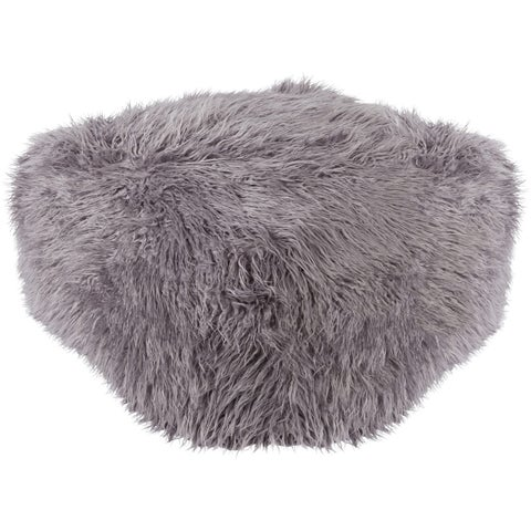 Bruno Faux Fur Square Pouf (24 x 24 x 14)