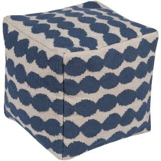 Berk 20-inch Wool/Cotton Square Pouf