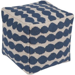 Berk 20-inch Wool/Cotton Square Pouf