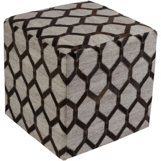 Castr 18-inch Viscose/Hair On Hide Square Pouf