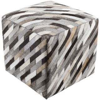 Carcassonne 18-inch Hair On Hide Square Pouf