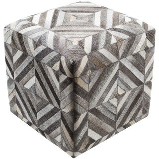 Cape Coral 18-inch Hair On Hide Square Pouf
