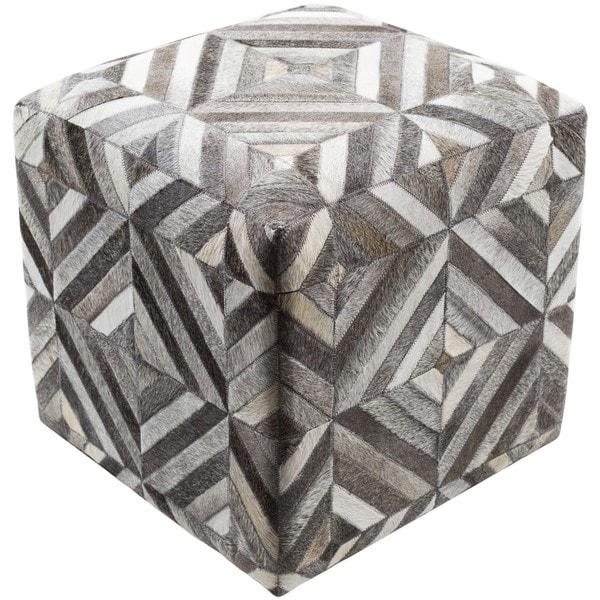 Cabrera 18-inch Hair On Hide Square Pouf