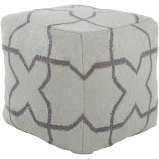 Mesa 18-inch Wool Square Pouf