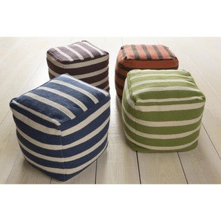 Colby 18-inch Wool Square Pouf