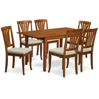 PSAV7-SBR Rubberwood 7-piece Dinette Set