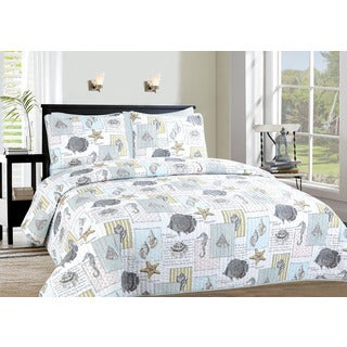 Atlantic Reversible 3-piece Quilt Set