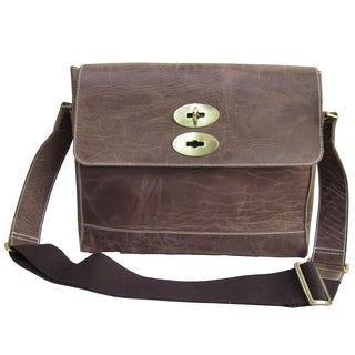 Amerileather Burlingdon Distressed Brown Leather Briefcase