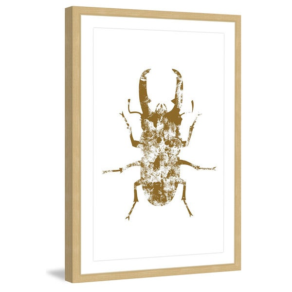 Marmont Hill 'Beetle Gold' Framed Painting Print