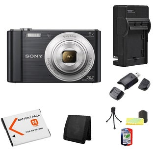 Sony Cyber-shot W810 20MP Black Camera Bundle