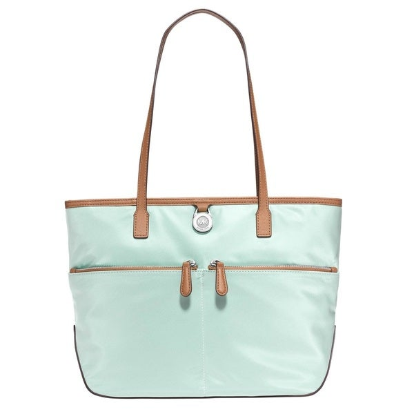 8497204c46f211 Shop Michael Kors Kempton Medium Celadon Pocket Nylon Tote Handbag - Free  Shipping Today - Overstock - 12020632