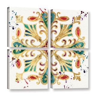 Jess Aiken's 'Little Jewels II' 4 Piece Gallery Wrapped Canvas Square Set