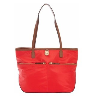 Michael Kors Kempton Medium Coral Reef Pocket Tote Bag