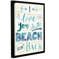 Jess Aiken's 'Coastal Words I' Gallery Wrapped Floater-framed Canvas
