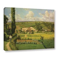 Camille Pissarro's 'Paysage Aux Patis, Pointoise, 1868' Gallery Wrapped Canvas