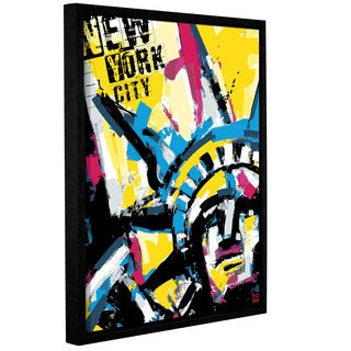 Bomo's 'NY1' Gallery Wrapped Floater-framed Canvas