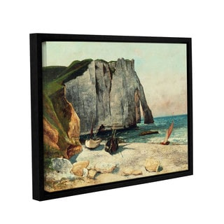 Gustave Courbet's 'The Cliffs Of Etretat, The Port Of Avale, 1869' Gallery Wrapped Floater-framed Canvas