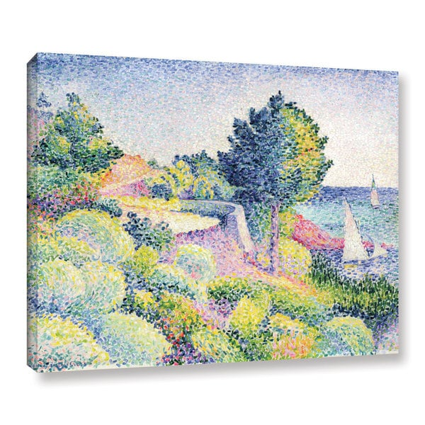 Henry-Edmond Cross's 'La Routes Sur La Cote, 1907' Gallery Wrapped Canvas