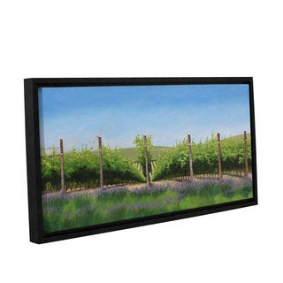 Julie Peterson's 'Lavender in the Vineyard' Gallery Wrapped Floater-framed Canvas