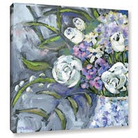 Pamela J. Wingard's 'Blue and White Lavender 1 ' Gallery Wrapped Canvas
